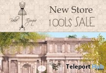 New Store 100L Sale Promo by Belle Epoque - Teleport Hub - teleporthub.com