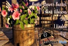 Pink Hibiscus Bucket 1L Promo Gift by The Ruddy Duck Co. - Teleport Hub - teleporthub.com