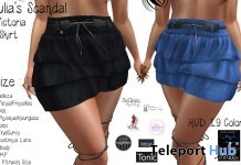 Victoria Skirt FatPack 100L Promo by Julia's Scandal - Teleport Hub - teleporthub.com