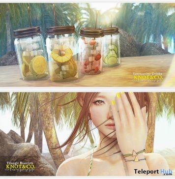 Summer Drink & Triangle Bracelets Knot & Co. Summer Project 2017 Group Gift by Anya Ohmai - Teleport Hub - teleporthub.com