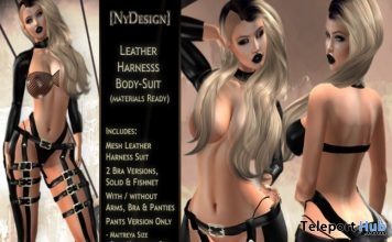 Leather Harness Bodysuit Group Gift by NyDesign - Teleport Hub - teleporthub.com