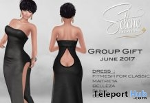 Sexy Long Dress June 2017 Group Gift by Selene Creations - Teleport Hub - teleporthub.com