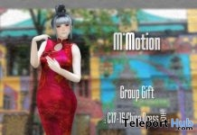 C17-15 Chinese Dress June 2017 Group Gift by M*Motion - Teleport Hub - teleporthub.com