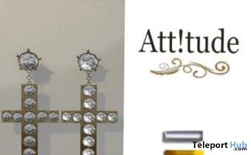 Cross Earrings Gift by Att!tude - Teleport Hub - teleporthub.com