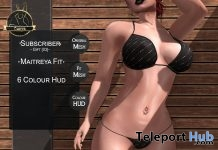 Bikini With 6 Colors HUD July 2017 Subscriber Gift by Curve - Teleport Hub - teleporthub.com