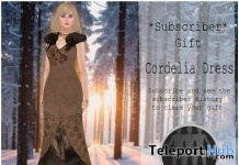 Cordelia Dress July 2017 Subscriber Gift by Viki - Teleport Hub - teleporthub.com