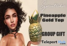 Pineapple Gold Top July 2017 Group Gift by Egoxentrikax - Teleport Hub - teleporthub.com