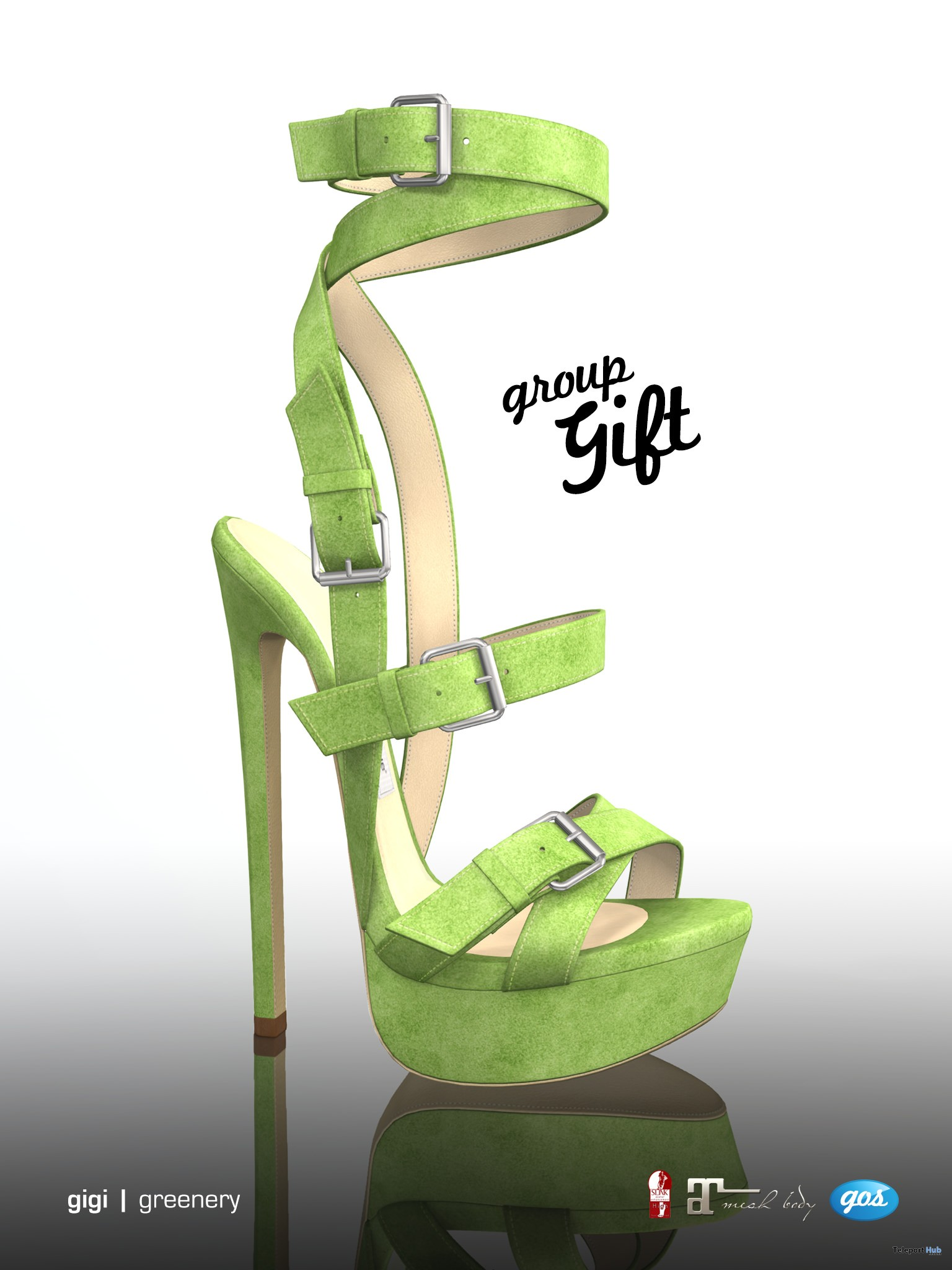 Gigi Greenery Heels Group Gift by Gos Boutique - Teleport Hub - teleporthub.com