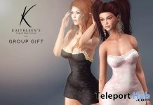 Mini Dress Black & Pink July 2017 Group Gift by Kaithleen's - Teleport Hub - teleporthub.com