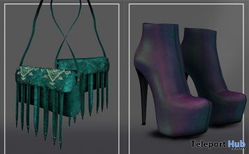 Void Booties Iridescent & Blair Bag Green Group Gifts by ANE - Teleport Hub - teleporthub.com