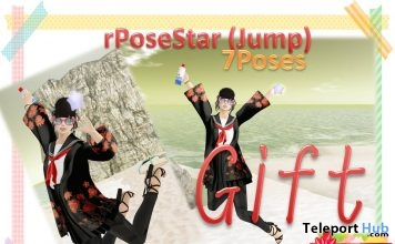 Wearable Star With Jump Pose Gift by A&R Haven - Teleport Hub - teleporthub.com