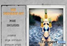Pineapple Babe July 2017 Subscriber Gift by Joplino - Teleport Hub - teleporthub.com