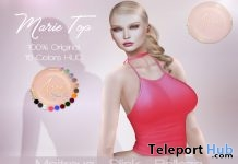 Marie Top With 15 Colors HUD On9 Event July 2017 Gift by Avie - Teleport Hub - teleporthub.com
