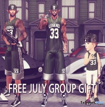 Legend 33 Outfit For Men and Kid July 2017 Group Gift by R2A - Teleport Hub - teleporthub.com