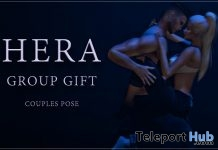 Couple Pose July 2017 Group Gift by HERA - Teleport Hub - teleporthub.com