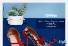 Stella Bow Strapped Heels Floral Group Gift by The Secret Store - Teleport Hub - teleporthub.com