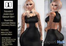 Tempting Leather Dress July 2017 Group Gift by SQUARE1 Event - Teleport Hub - teleporthub.com
