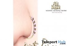 The Boho Chic Princess Nose Ring With HUD Group Gift by Dirty Princess - Teleport Hub - teleporthub.com