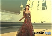 Claude Monet Bastille Day Gown With Applier Group Gift by Paris METRO Couture - Teleport Hub - teleporthub.com