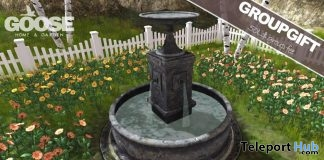 Garden Fountain Group Gift by GOOSE - Teleport Hub - teleporthub.com