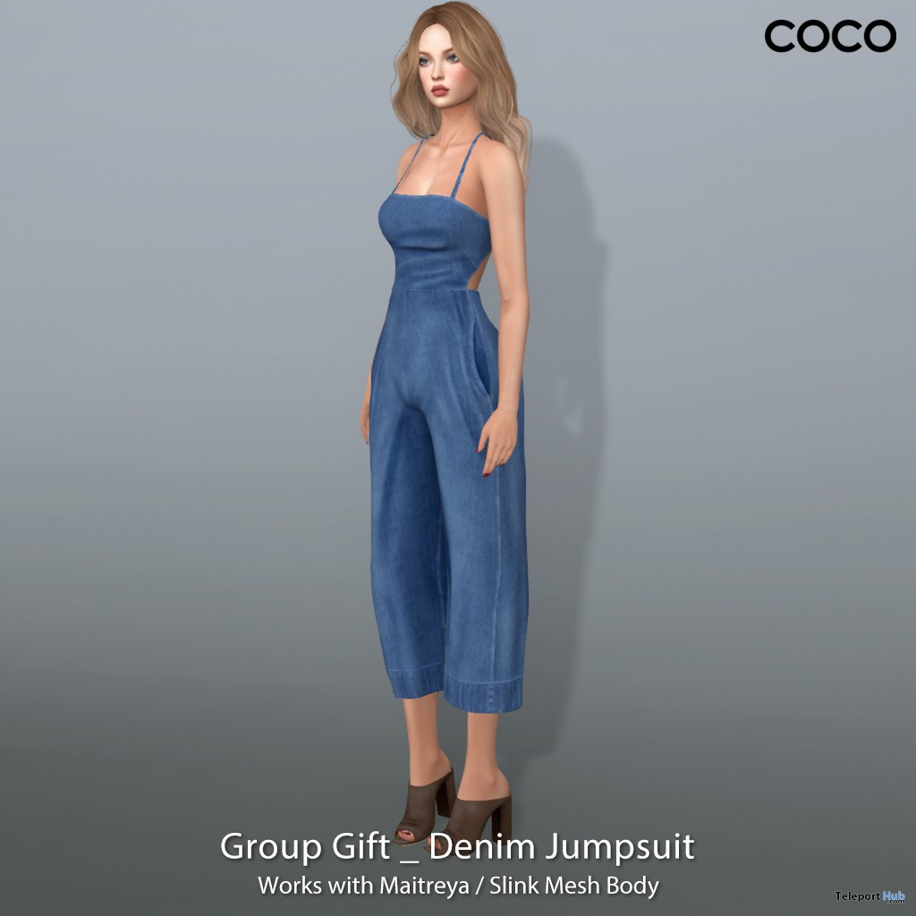 Denim Jumpsuit Group Gift by COCO Designs - Teleport Hub - teleporthub.com