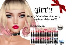 Delicious Lipsticks For Catwa Head Anniversary Gift by Shiny Stuffs - Teleport Hub - teleporthub.com