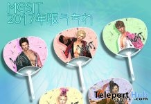 Uchiwa Hand Fans August 2017 Group Gift by MGSIT-STORE - Teleport Hub - teleporthub.com