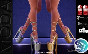Sophia Strapped Platforms Heels Facebook Gift by MODA Designs - Teleport Hub - teleporthub.com