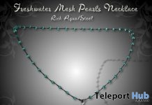Freshwater Pearls Necklace Aqua Steel Subscriber Gift by Zuri Jewelry - Teleport Hub - teleporthub.com