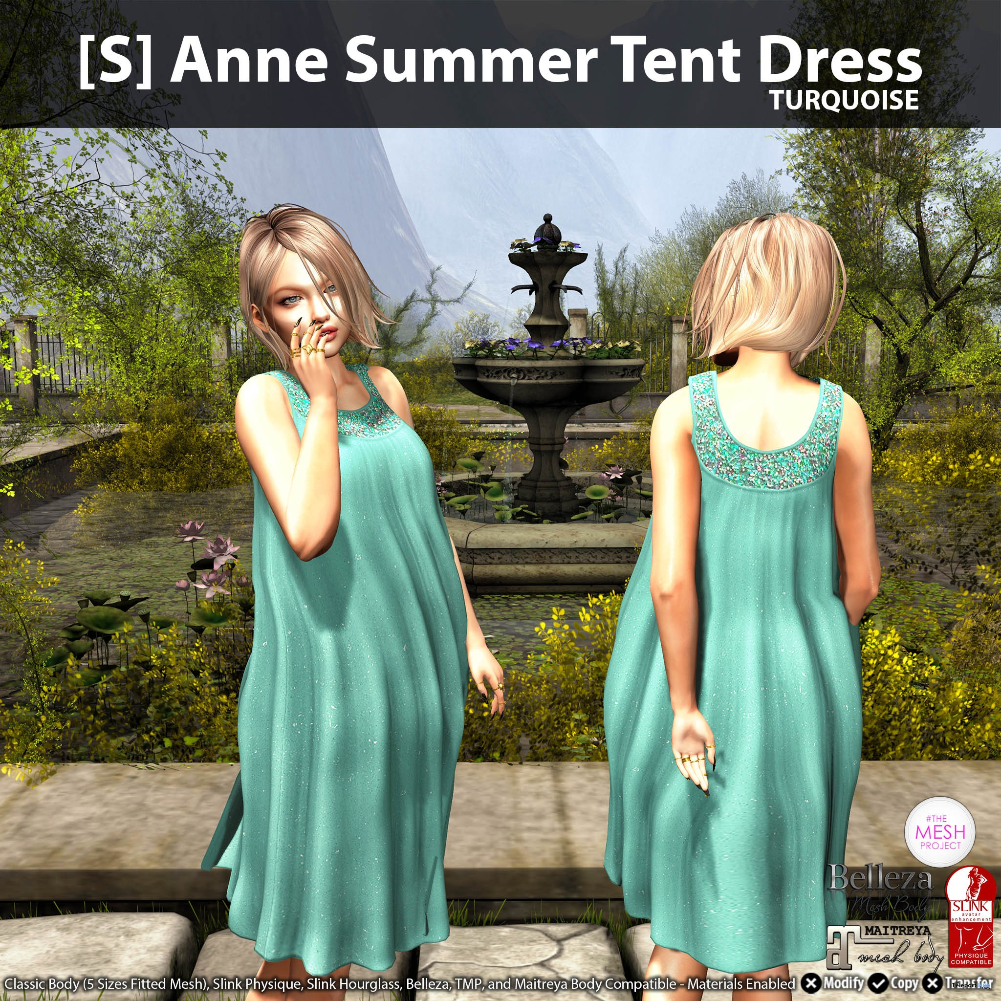 New Release: [S] Anne Summer Tent Dress by [satus Inc] - Teleport Hub - teleporthub.com
