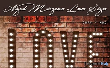Aged Marquee Love Sign Fall 2017 Group Gift by The Vintage Touch - Teleport Hub - teleporthub.com