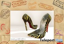 Zebra Pattern Pumps August 2017 Subscriber Gift by Hucci - Teleport Hub - teleporthub.com