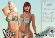 Lizanne Bikini Plain & Print August 2017 Group Gift by Lo's Inspiration- Teleport Hub - teleporthub.com