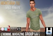 Montana Tees Sage Green L'HOMME Magazine Anniversary Group Gift by Cold Ash - Teleport Hub - teleporthub.com