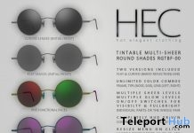Unisex Tintable Multi-Sheer Round Glasses Teleport Hub Group Gift by HEC - Teleport Hub - teleporthub.com