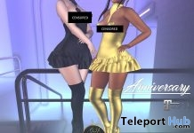 Black & Gold Dress Full Outfit Anniversary Gift by Curve - Teleport Hub - teleporthub.com