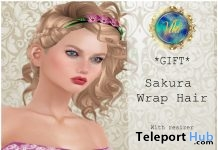 Sakura Wrap Headband For Fancy Event 1L Promo Gift by Viki - Teleport Hub - teleporthub.com