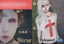 Norse Bindi & Eyn Tees September 2017 Group Gift by Cubic Cherry - Teleport Hub - teleporthub.com