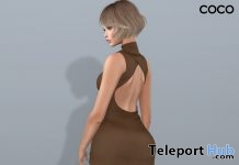 Backless Knit Dress Brown Group Gift by COCO Designs - Teleport Hub - teleporthub.com