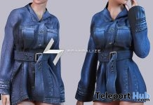 Kaily Coat Dress Denim D Group Gift by Scandalize - Teleport Hub - teleporthub.com