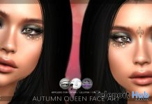Autumn Queen Face Art September 2017 Group Gift by LIVIA - Teleport Hub - teleporthub.com