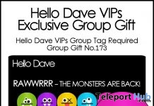 RAWR Monsters Are Back Nail Applier Group Gift by Hello Dave - Teleport Hub - teleporthub.com