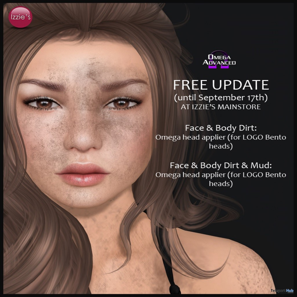 Face & Body Dirt & Mud Omega Applier Gift by Izzie's - Teleport Hub - teleporthub.com