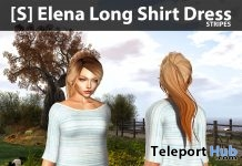 [S] Elena Long Shirt Dress Stripes 100% Off Group Discount Promo by [satus Inc] - Teleport Hub - teleporthub.com