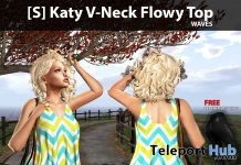New Release: [S] Katy V-Neck Flowy Top by [satus Inc] - Teleport Hub - teleporthub.com