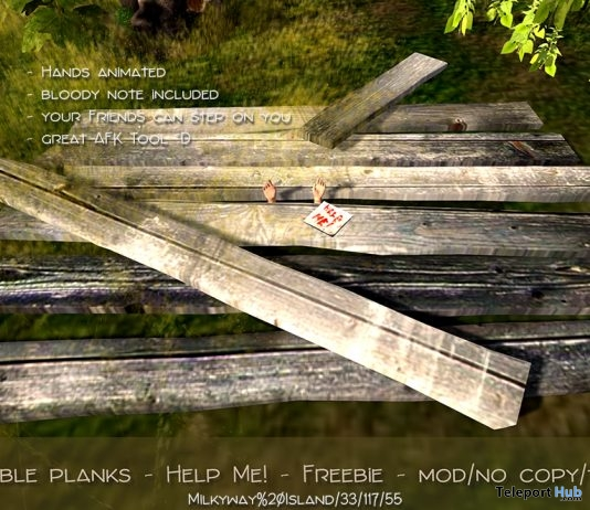 Wearable Planks With Animated Hands Gift by June Trenkins - Teleport Hub - teleporthub.com