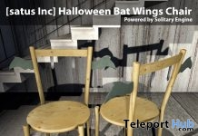 New Release: Halloween Bat Wings Chair by [satus Inc] - Teleport Hub - teleporthub.com