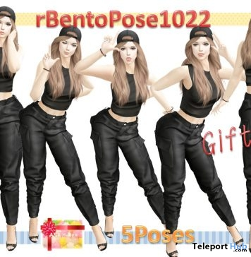 rBentoPose1022 Pack of 8 Assorted Bento Poses Gift by A&R Haven - Teleport Hub - teleporthub.com