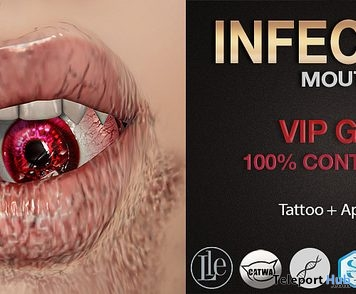 Infected Mouth Tatoo & Appliers Group Gift by Mad' - Teleport Hub - teleporthub.com