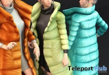 New Release: Bella Puff Coat Set by fame femme @ Shiny Shabby October 2017 - Teleport Hub - teleporthub.com